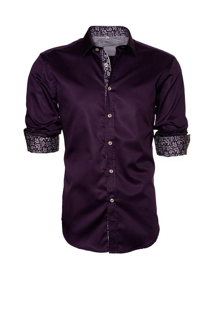 Dark Purple Button Down Shirt | Artee Shirt