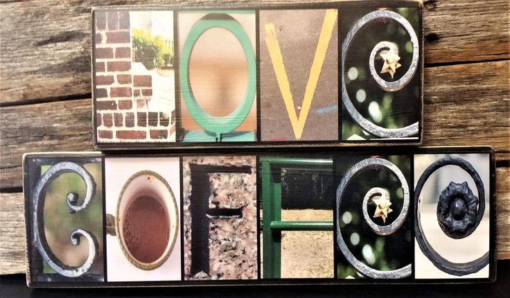 Coffee Lover Letter Photography Home Decor Sign. Great fun gift for coffee lovers.