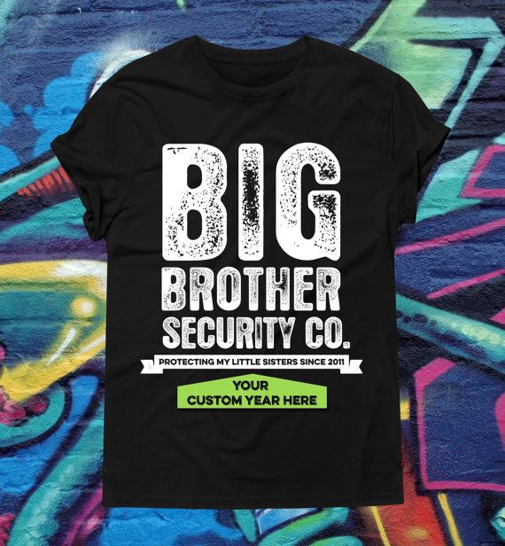 Big Brother T-Shirt  Big Brother Security Shirt  by kitschklothing