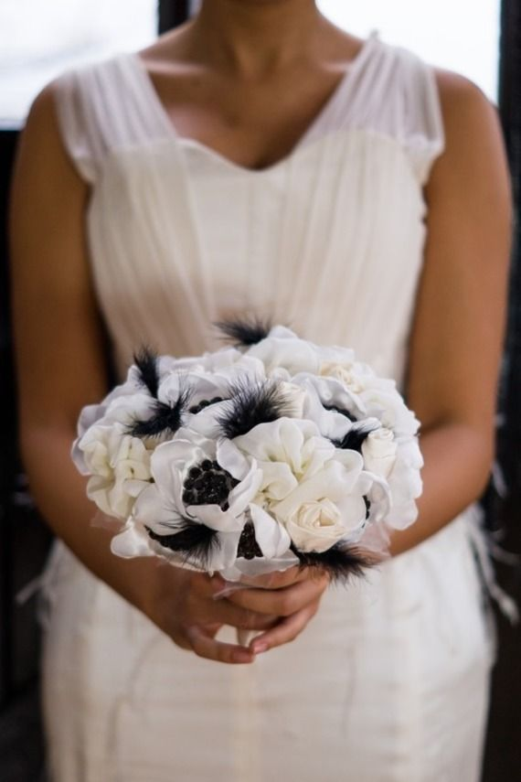 8 best bouquet de mariée noir et blanc images on pinterest | black