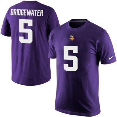 Teddy Bridgewater Minnesota Vikings Nike Player Pride Name & Number T-Shirt  - Purple