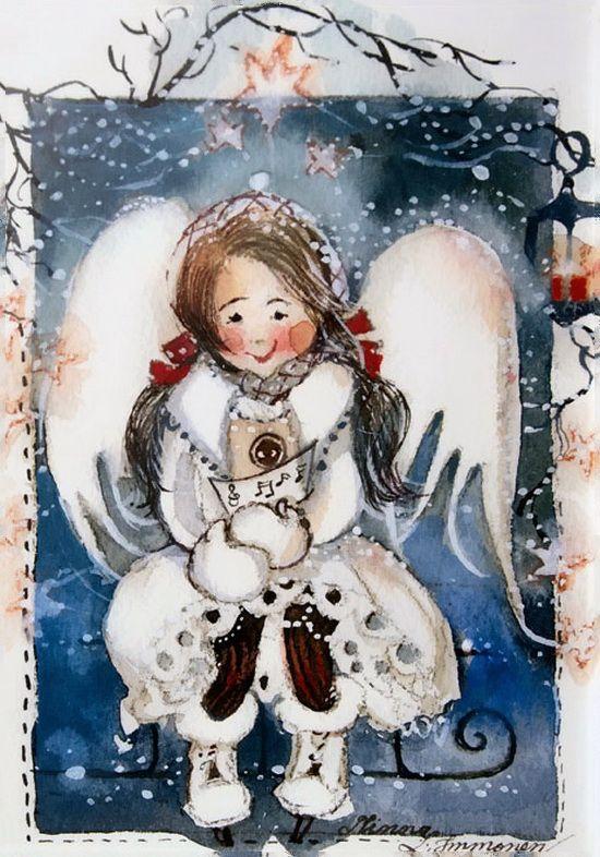Зимний ангел картинки с надписями