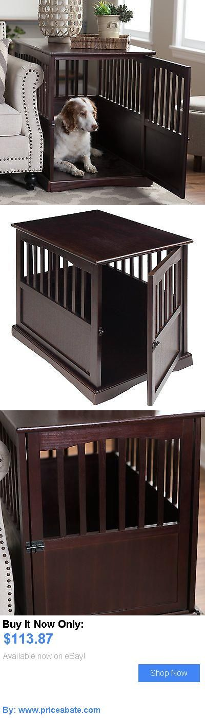 Animals Dog: Wood Dog Crate House Pet End Table Indoor Wooden Kennel Cage Espresso Puppy BUY IT NOW ONLY: $113.87 #priceabateAnimalsDog OR #priceabate