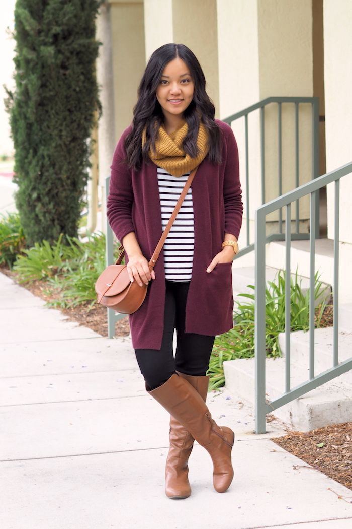 Putting Me Together: 3 Ways to Wear a Maroon Cardigan