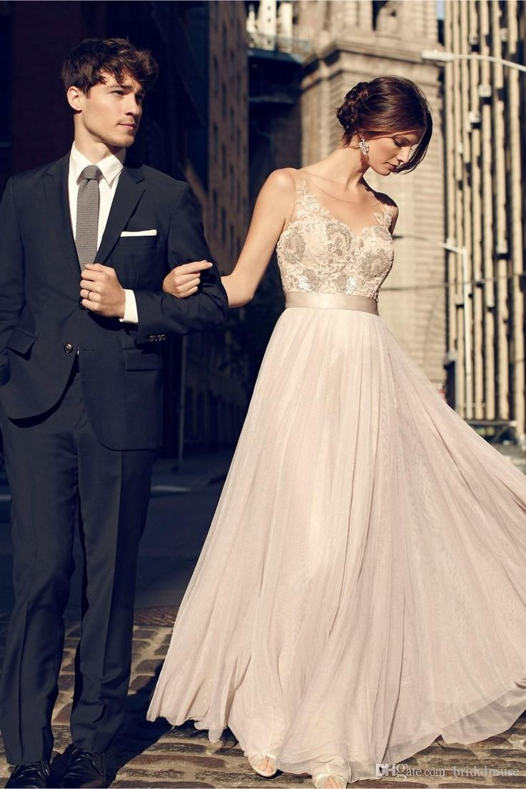 Vintage Champagne 2015 Cheap Maid Of Honor Dresses Bridesmaid Gowns A Line Floor Length Sequins Beaded Bridesmaid Dresses B61-in Bridesmaid Dresses from Weddings & Events on Aliexpress.com | Alibaba Group
