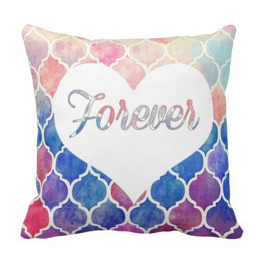 Popular watercolor pillow