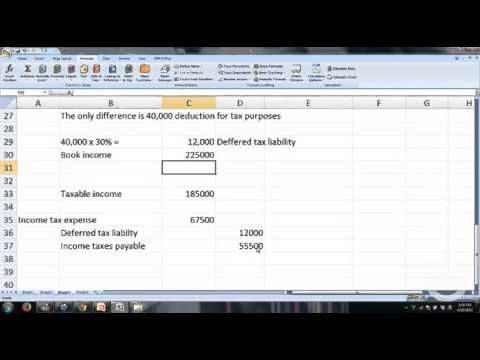 Deferred tax asset and deferred tax liability examples ch 19 p 4-Intermediate Accounting CPA exam - YouTube