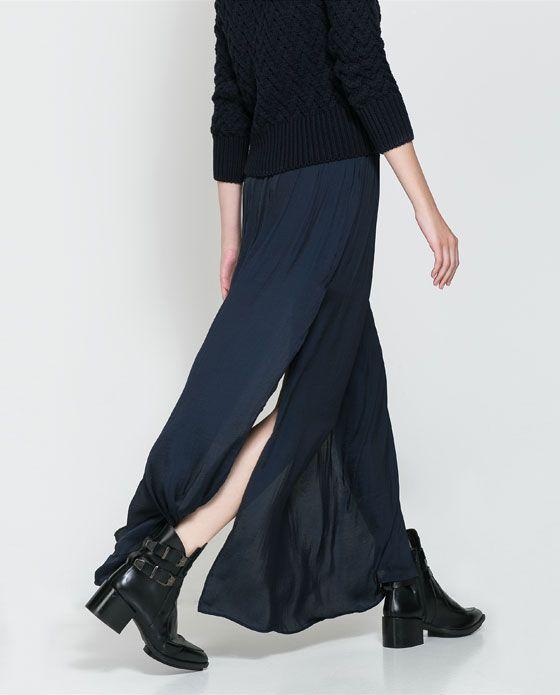 LONG SKIRT WITH SLITS from Zara