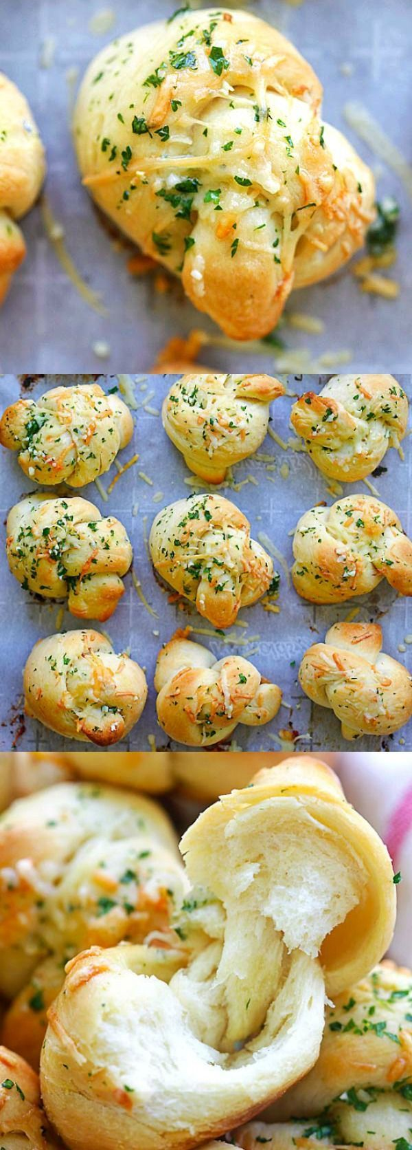 Garlic Parmesan Dinner Rolls – homemade bread dough turned into the best dinner rolls with garlic and Parmesan cheese. So good | http://rasamalaysia.com