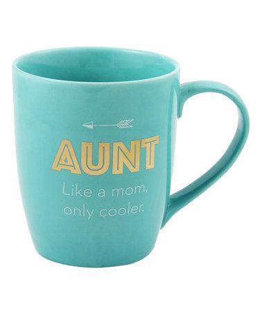 'Aunt Like a Mom Only Cooler' Mug #zulily #zulilyfinds
