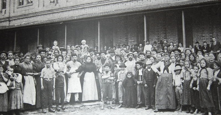 Brazil. Italian immigrants arriving in São Paulo in 1890. Today, 60% of all paulistanos descend at least partially from Italians.