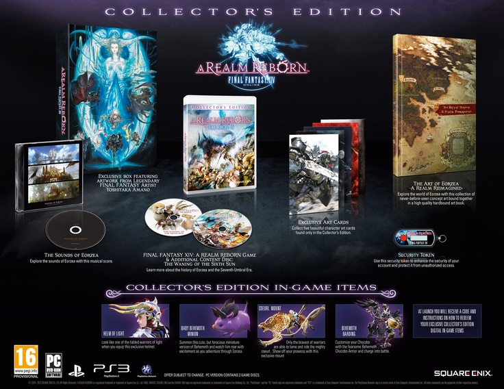 Here is the Final Fantasy XIV Collector's Edition for the PS3. Click to learn more about its contents.