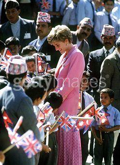 March, 1993, Princess Diana at the Leprosy Hospital, Nepal, India.
