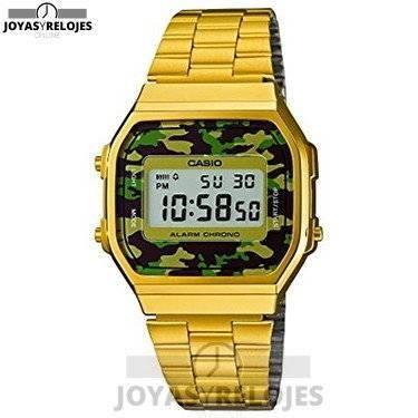 ⬆️✅ CASIO A168WEGC-3 ✅⬆️ Sublime Modelo de la Colección de Relojes Casio PRECIO 41.51 € Lo puedes comprar en  https://www.joyasyrelojesonline.es/producto/casio-a168wegc-3-reloj-de-cuarzo-para-hombre-color-verde-y-dorado/  ¡¡No los dejes Escapar!!