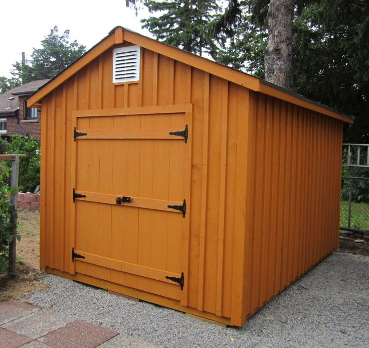 10x12 high board and batten with 5ft double door the for Double door shed plans