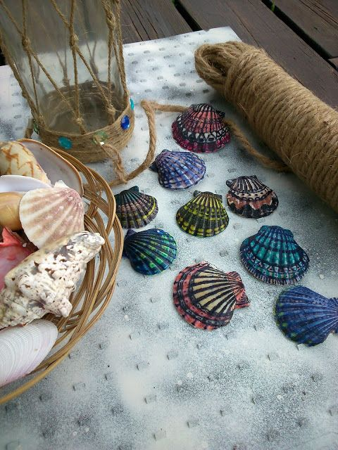 M'made Diy : Seashell decoration with Sharpie pen