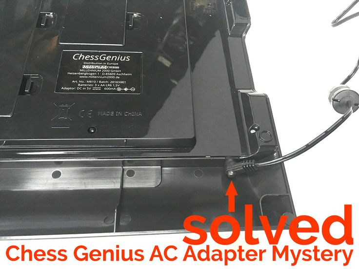 Having trouble locating the port to plug in your AC adapter for the Millennium Chess Genius Pro Electronic Chess Computer?  Look here!