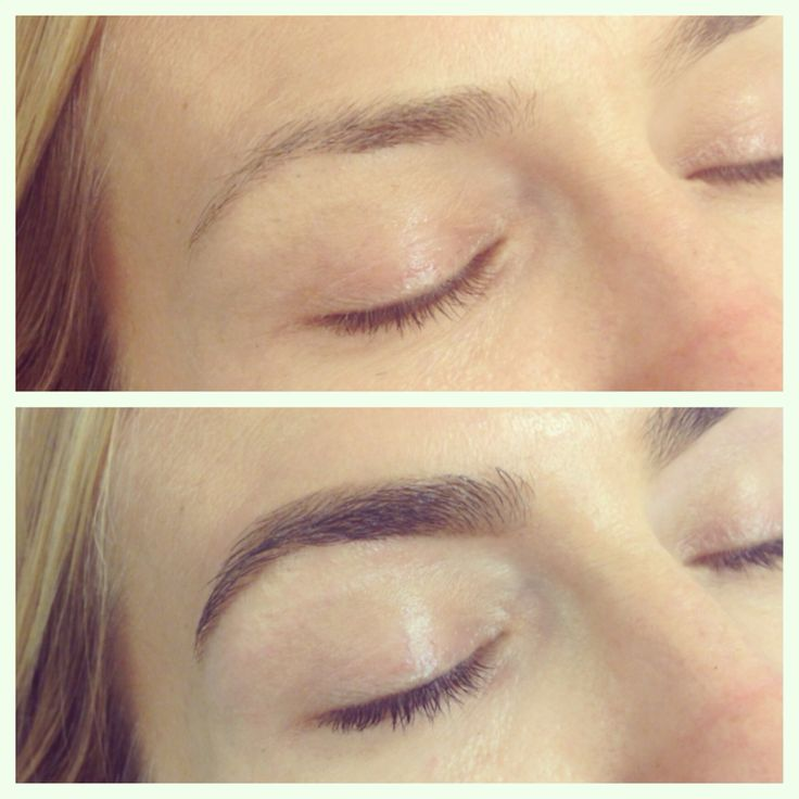 Before and After Brow Shaping and Tint by Brows by Shaila ...