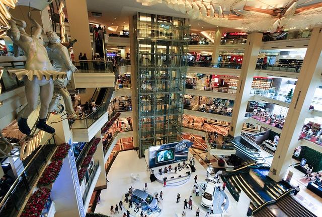 Mall Taman Anggrek, West Jakarta, Indonesia  (Taman Anggrek = Orchid Garden)  Skate ring, restaurants, etc