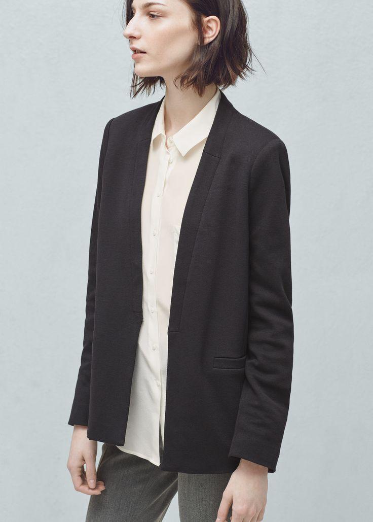 Textured cotton blazer | MANGO