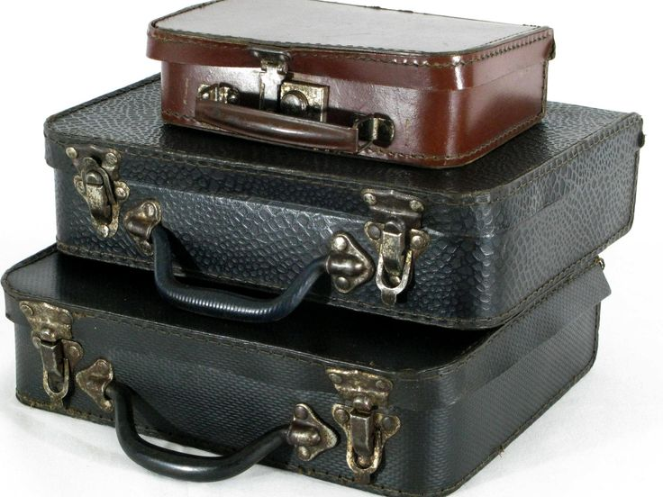 The 25 best small suitcases ideas on pinterest packing tips small suitcases suitcases old suitcases 3 antique suitcases vintage luggage cardboard suitcases set of cardboard luggage gumiabroncs Choice Image