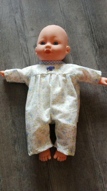 patron couture barboteuse poupée