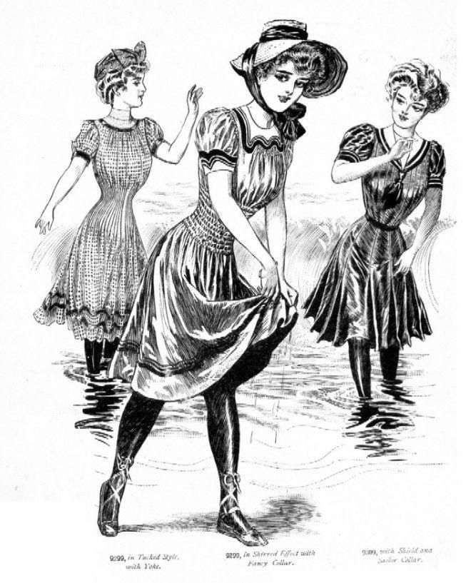 Costumi da bagno dell'epoca edardiana