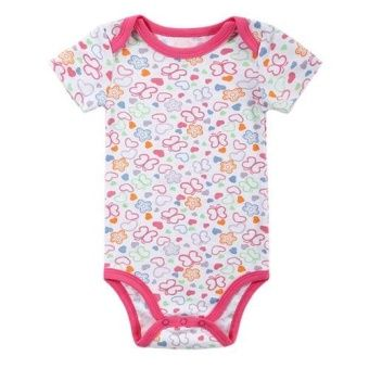 Baby Jumpers Butterfly and Sweat-heart Pattern Short Rompers (10-12months Girl)