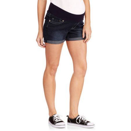 10c1ce9ba1651 Oh Mamma Maternity Demi Panel Super Soft 5 Pocket Shorts -- Available in  Plus Sizes, Women's, Size: 2XL, Gray