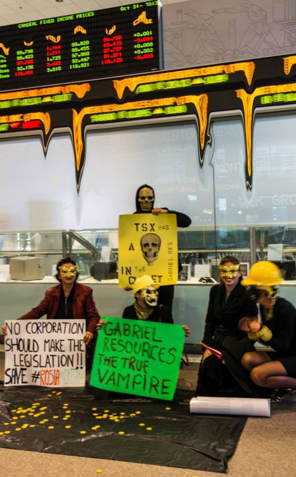 Toronto Silent Protest at TSX: TSX is melting! October 31st