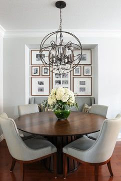 transitional dining room by north vancouver interior designers decorators simply home decorating moonshine benjamin moore love the brightness of the room - Transitional Castle Decorating