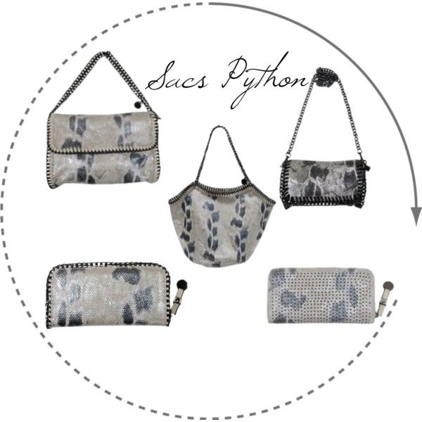 SACS PYTHON by cpourl-chantal on Polyvore featuring mode