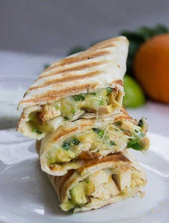 Chicken & Avocado Burritos