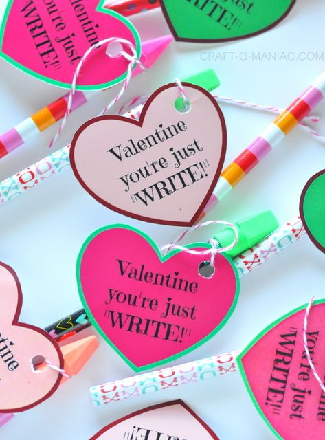 """Valentine You're Just WRITE!"" #candyfreevalentines: Diy Valentines, Candy Free, Cards Valentines, Valentine You Re, Christmas Winter Valentines, Happy Valentines"