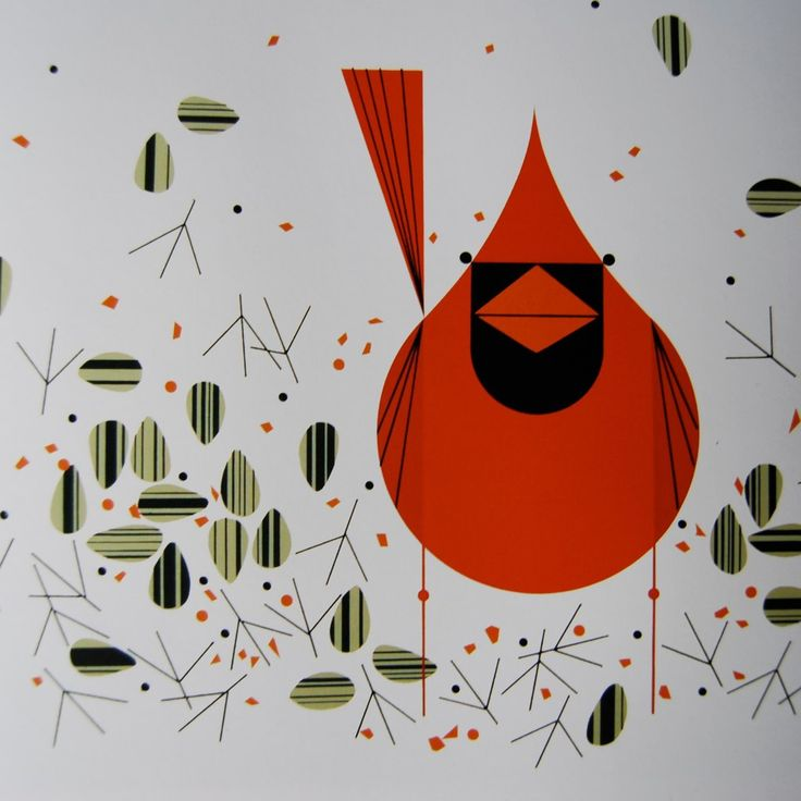 Inspiration for charley harper qal birds pinterest for Charley harper mural