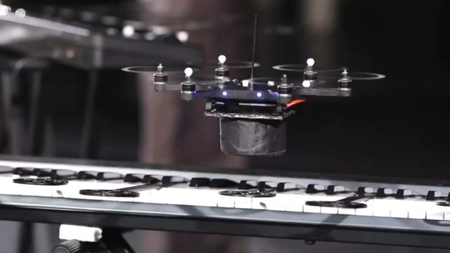 Music by drones: BBC News - Drone direction: The flying robotic pop band