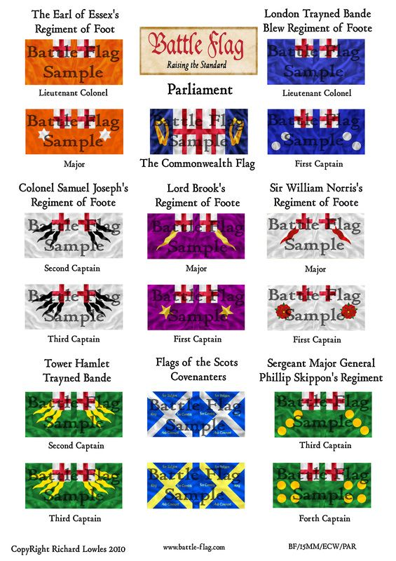 15mm English Civil War Parliament Battle Flag English