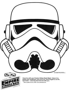Star Wars Halloween Templates | Click the picture for the Stormtrooper Mask in high resolution.