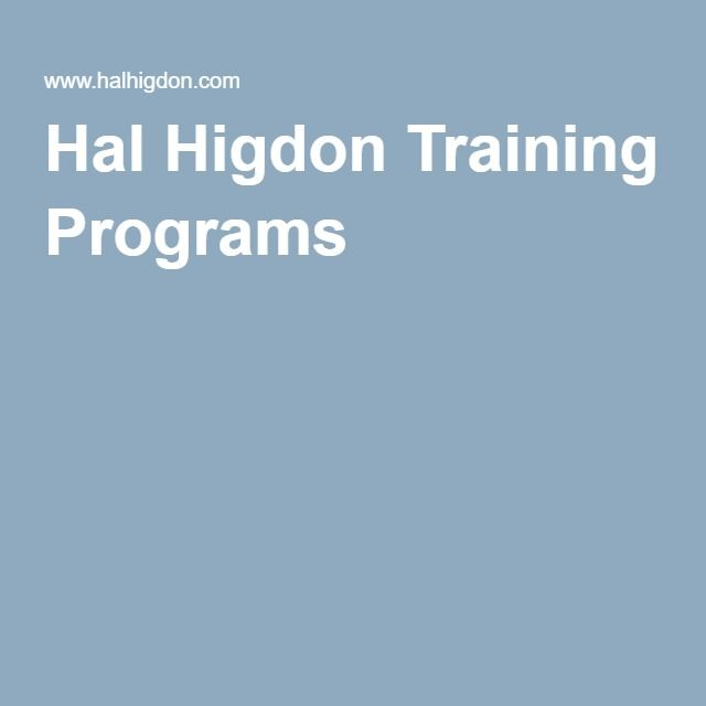 Hal Higdon Marathon Training Programs