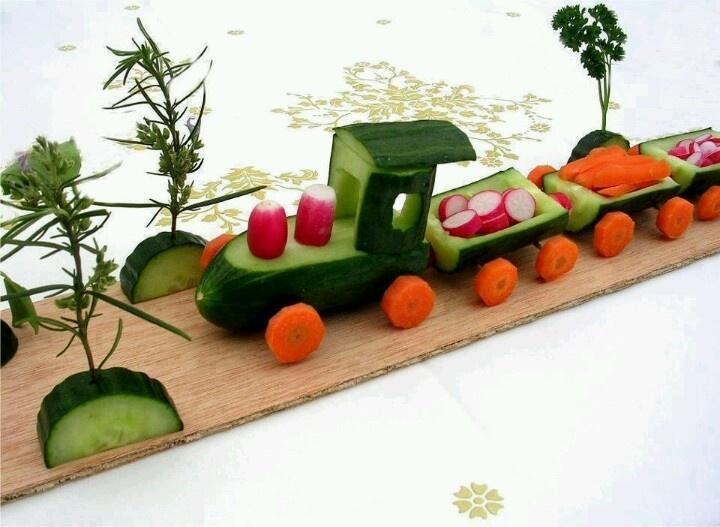 Cute veggy train