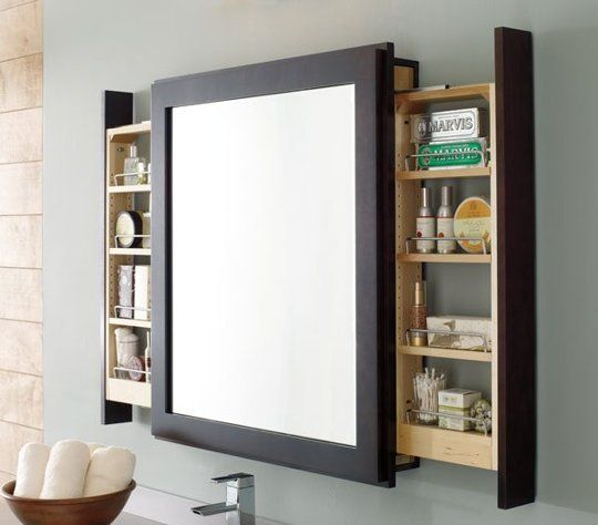 This medicine cabinet that lets you primp without interrupting your view.  Decora Cabinets via Midwest Living.