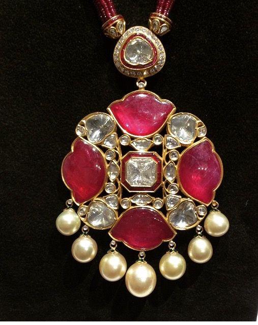 Amrapali ruby and diamond necklace via@sarahljordy