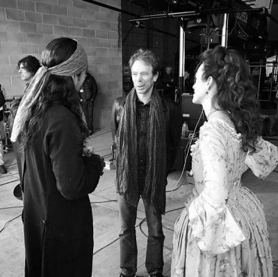BTS with Jerry Bruckheimer and Orlando Bloom and Pirates 5...