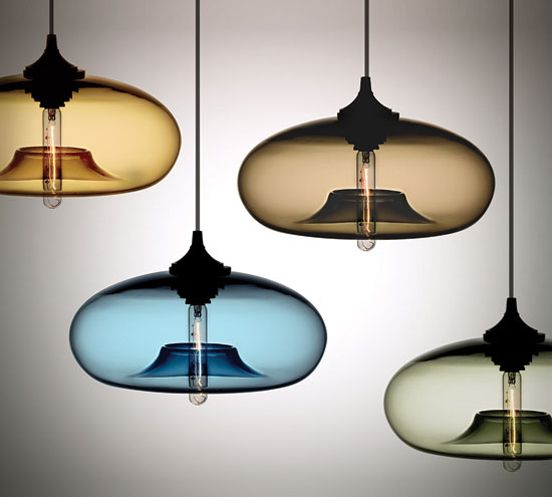 this hand blown lighting by Niche is beautiful