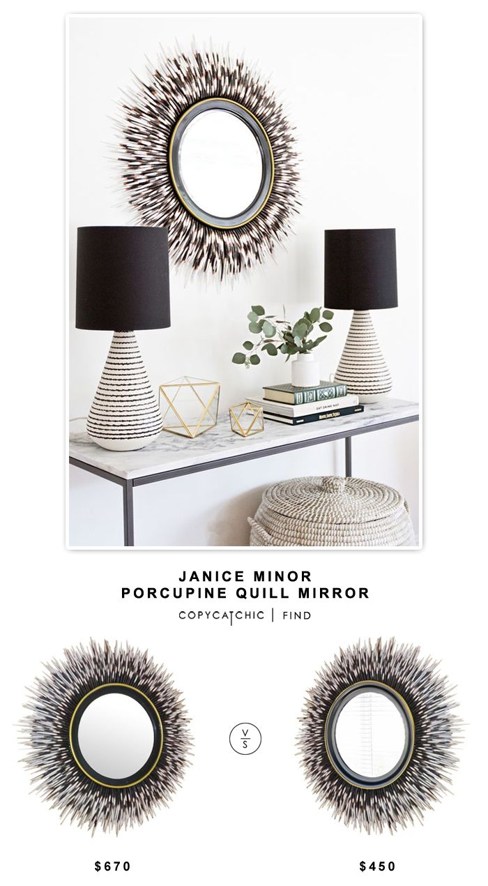 Janice Minor Porcupine Quill Mirror | | Copy Cat Chic | chic for cheap | Bloglovin'