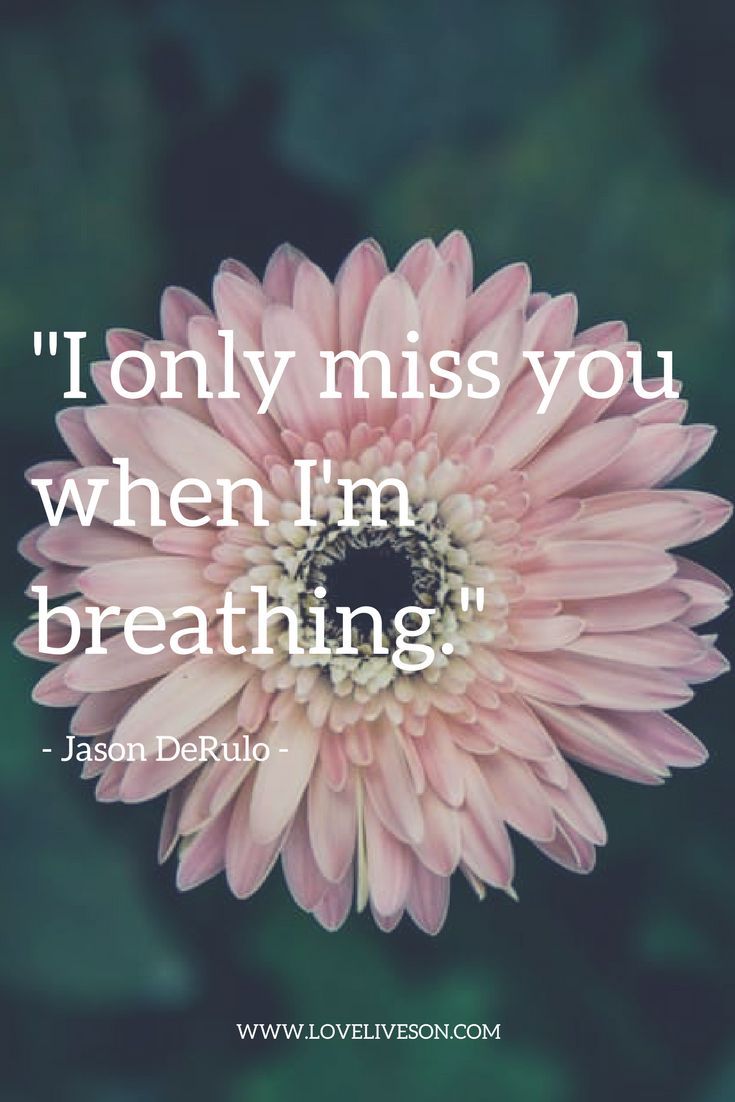 "A beautiful grief quote from Jason DeRulo's song, ""Breathing""."