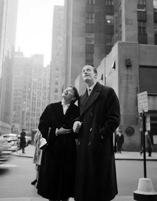 Rare Audrey Hepburn — Audrey Hepburn and James Hanson circa 1951