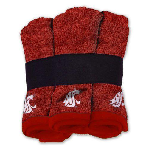 NCAA Washington State Cougars Six Piece Wash Cloth Set Northwest  Http://www. Guys BathroomBasement BathroomOhio ...