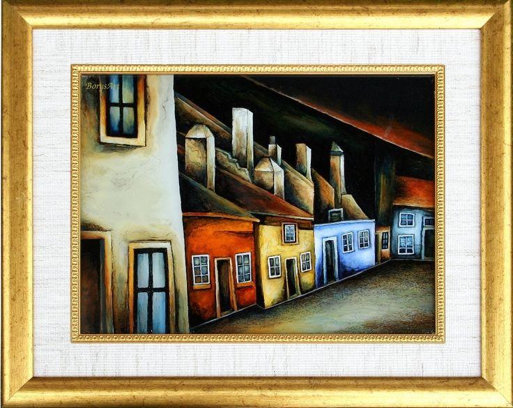 ULICZKA malowane na szkle Danuta Rożnowska-Borys - BorysArt