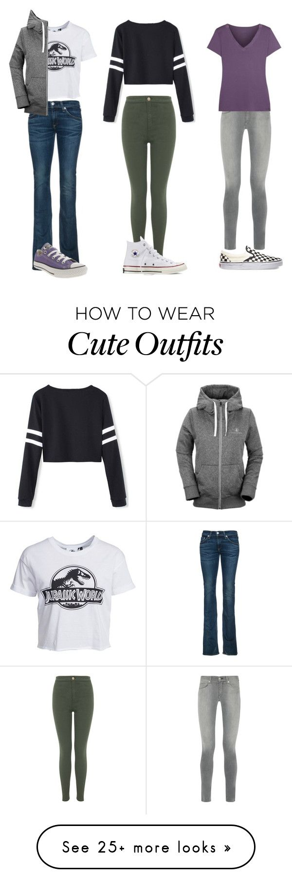 """""""3 Cute School Outfits"""" by bluejay22 on Polyvore featuring New Look, Volcom, Converse, rag & bone, Vans, Calvin Klein Underwear and Miss Selfridge"""